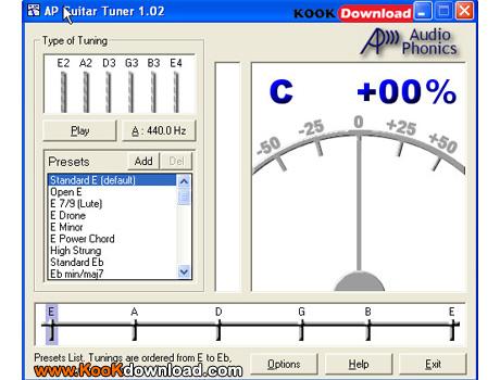 کوک کردن گیتار AP Guitar Tuner 1.02