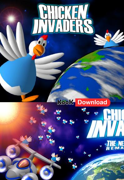 دانلود مرغ های مهاجم نسخه ۲۰۱۱ بازی جدید و بسیار پر طرفدار  Chicken Invaders 4