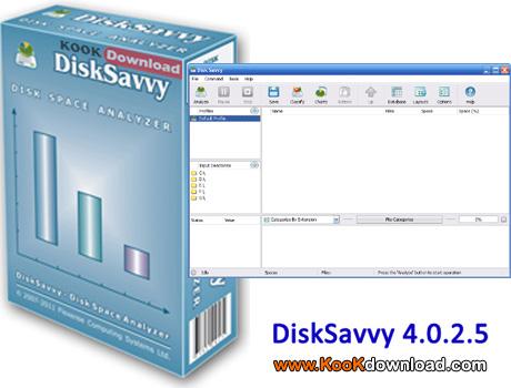 دانلود نرم افزار آنالیز فضای دیسک DiskSavvy 4.0.2.5