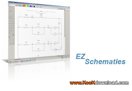 برنامه طراحی مدارات الکترونیکی با نرم افزار EZ Schematics v1.4.32
