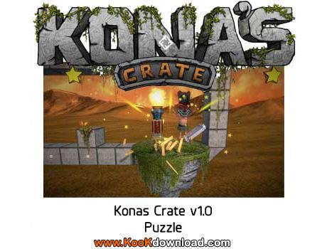 دانلود بازی پازلی جعبه های معلق کونا Kona's Crate v1.0 Puzzle PC Game