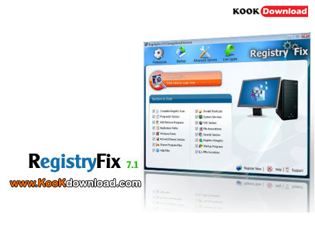 نرم افزار اتوماتیک ترمیم ویندوز RegistryFix 7