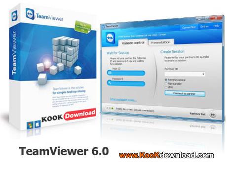 نرم افزار دسترسی به کامپیوتر از راه دور Portable TeamViewer 6.0 Build 10462 Final