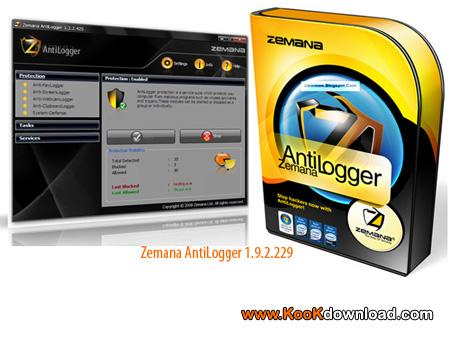نرم افزار جلوگیری از سرقت اطلاعات Zemana AntiLogger 1.9.2.229