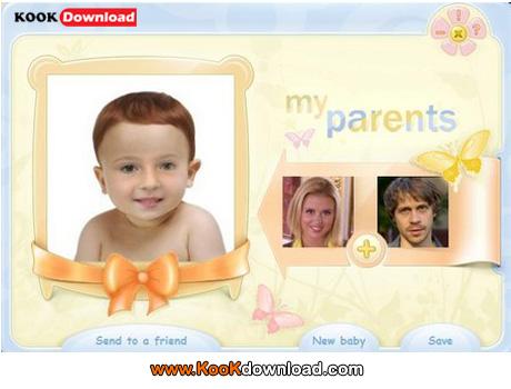 نرم افزار تشخیص چهره نوزاد توسط عکس پدرومادر BabyMaker 1.6