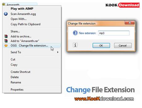 دانلود نرم افزار مشاهده و تغییر پسوند فایل Change File Extension