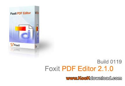 ویرایش فایل های PDF با Foxit PDF Editor 2.1.0 Build 0119