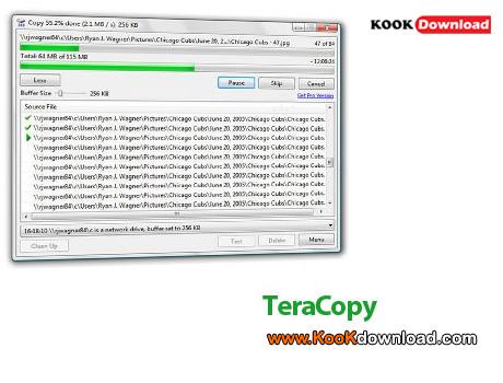 نرم افزار کپی سریع فایل ها TeraCopy Pro 2.2 Final
