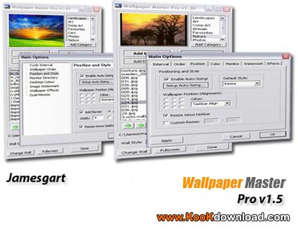 نرم افزار تغییر اتوماتیک عکس دسکتاپ Wallpaper Master Pro v1.5